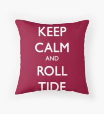 Keep Calm and Roll Tide Throw Pillow