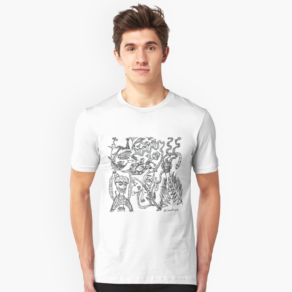 The Snake Armed Man- Scientist  Unisex T-Shirt Front