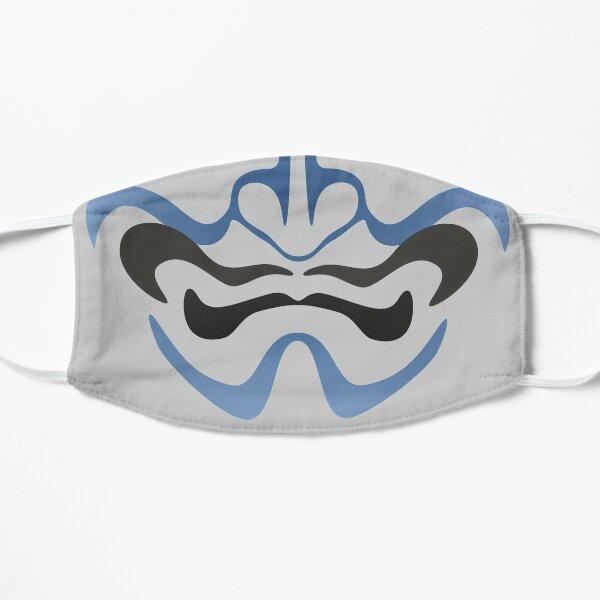 Japanese kabuki ghost mask Flat Mask