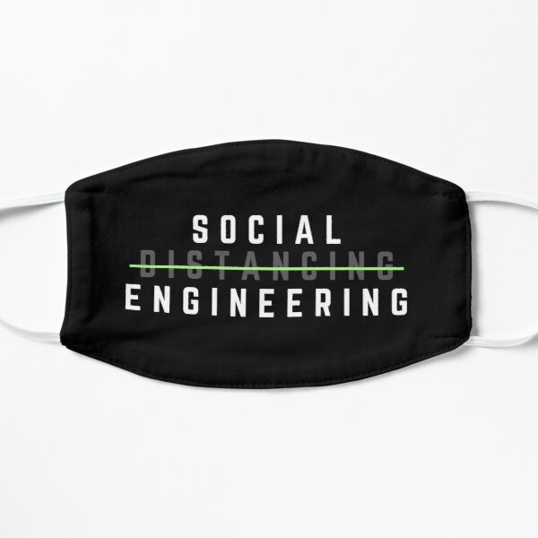 Social Distance Flat Mask