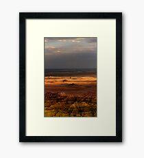 Sunset over Sage Creek Basin Framed Print