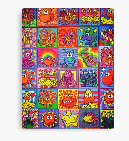 Collection Of Friends Canvas Print