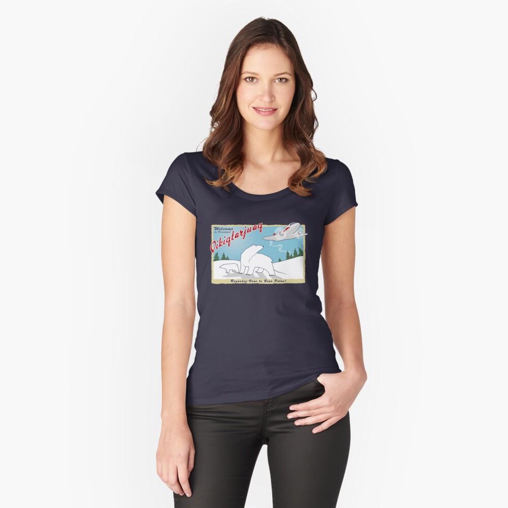 Qikiqtarjuaq Women's Fitted Scoop T-Shirt Front