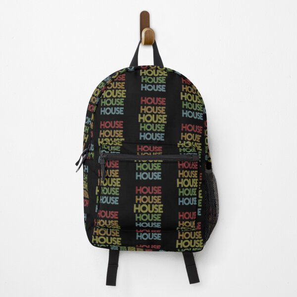 House Name - House Rainbow Multi Color Gift For Family Surname House Name Backpack