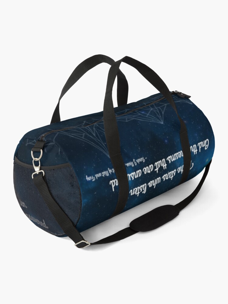 Alternate view of ACOMAF To the stars who listen bookish quote Duffle Bag