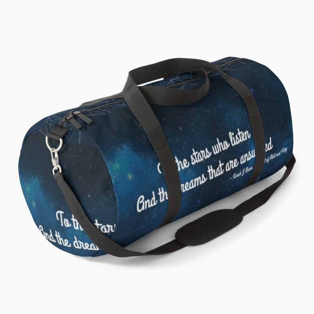 ACOMAF To the stars who listen bookish quote Duffle Bag