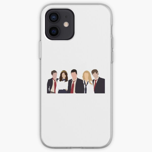 Gossip Girl Character Silhouette Coque souple iPhone