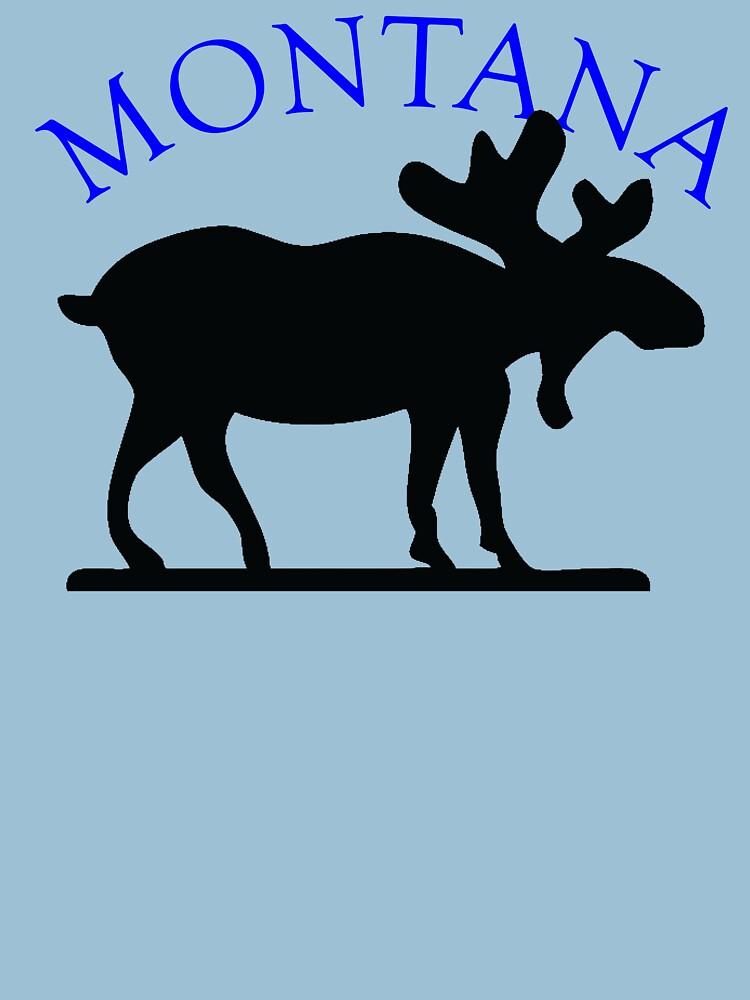 Montana Moose by pjwuebker
