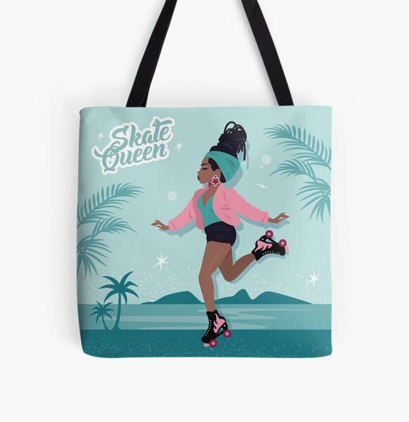 Skate Queen All Over Print Tote Bag