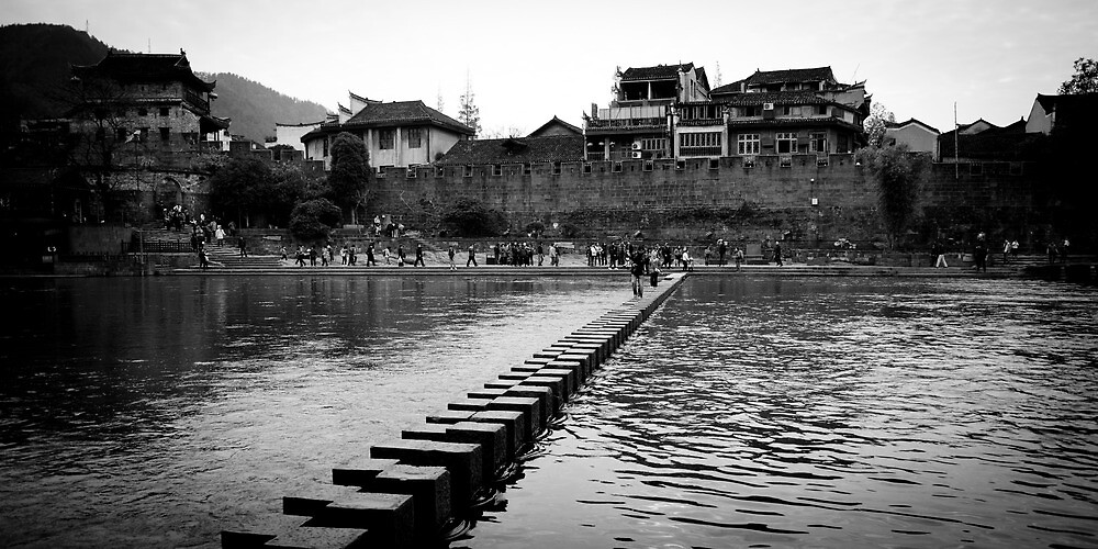 Stepping Stone Bridge by Yincinerate