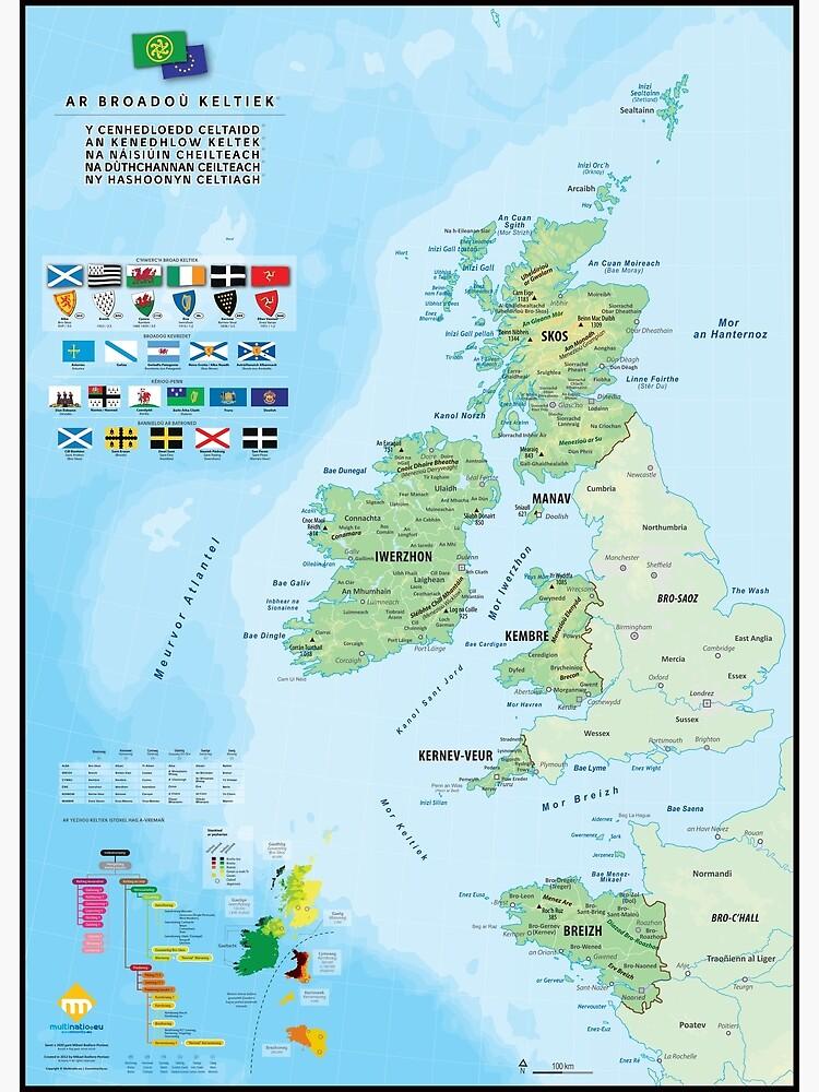 «Les six nations celtiques : cartes, drapeaux et langues (version en breton)» par Multinatio