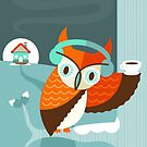Winter Owl by murphypop