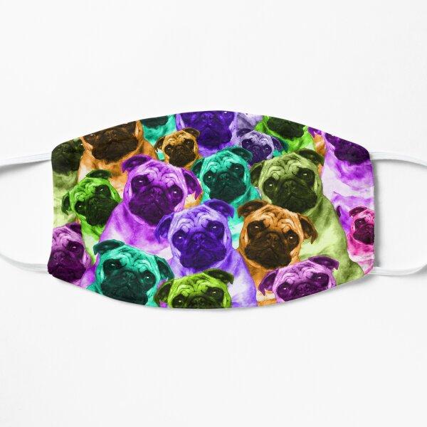 Colorful Pug Pattern Flat Mask