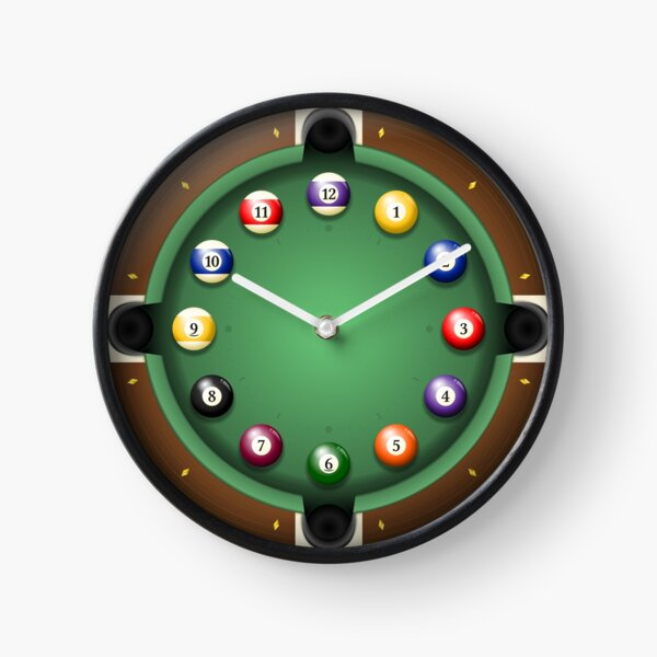 Time to play pool Clock