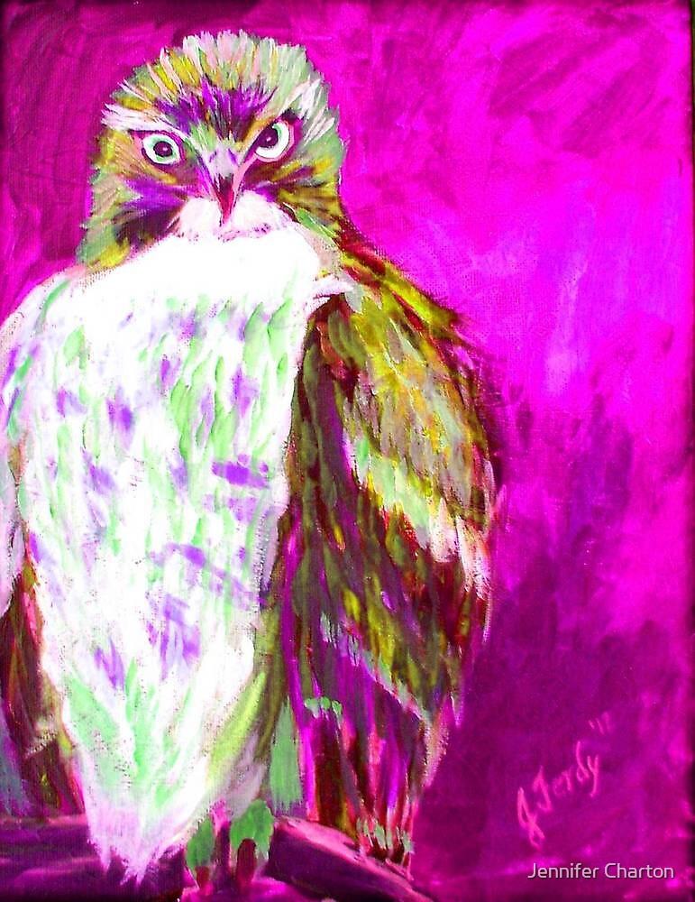 Magenta Hawk by Jennifer Charton