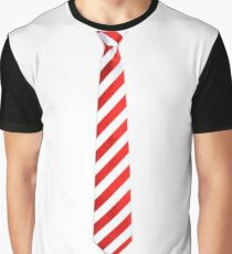 Red - White Tie Graphic T-Shirt