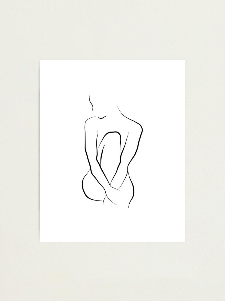 Alternate view of Nude Line Art Sketch - Beautiful Bella Photographic Print