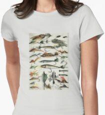 1920's Fishing Flies Women's Fitted T-Shirt