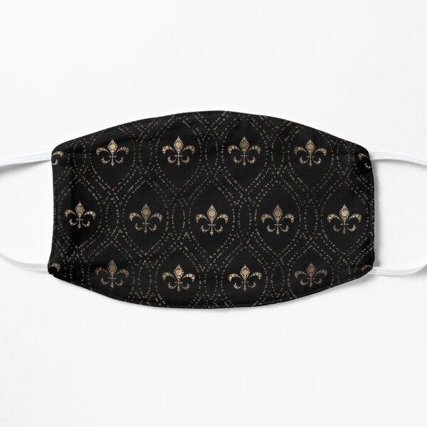 Motif Fleur-de-lis Dot Art Noir et Or Masque sans plis