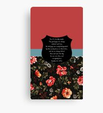 Buffy It's terribly simple Canvas Print