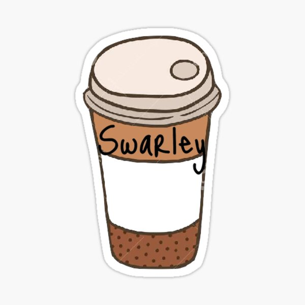 Swarley Coffee Cup Sticker