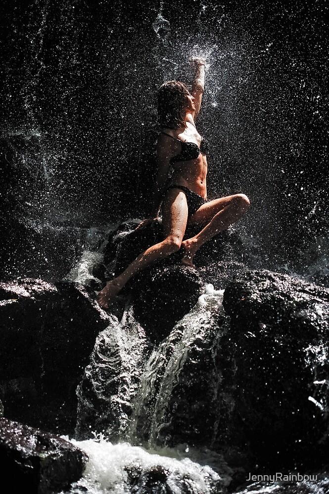 Approaching the Light. Anna at Eureka Waterfalls, Mauritius by JennyRainbow