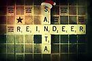 Santa Scrabble Christmas Card by Vanessa Barklay