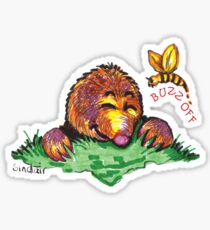 Buzz off shirt (Drawn) Sticker