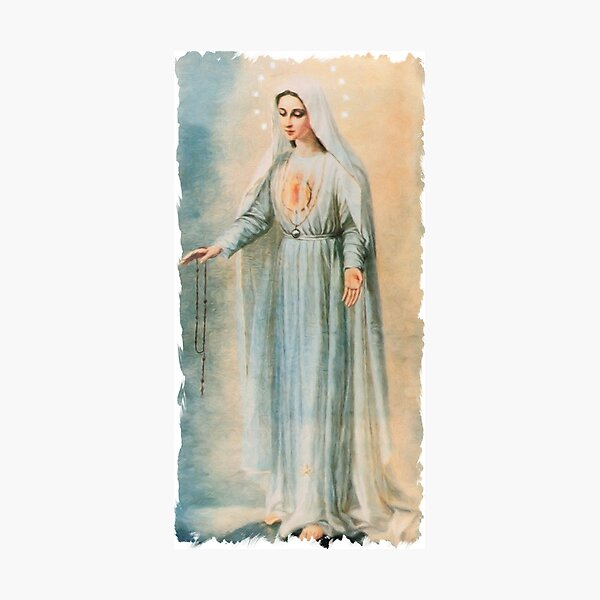 Our Lady Fatima Photographic Print
