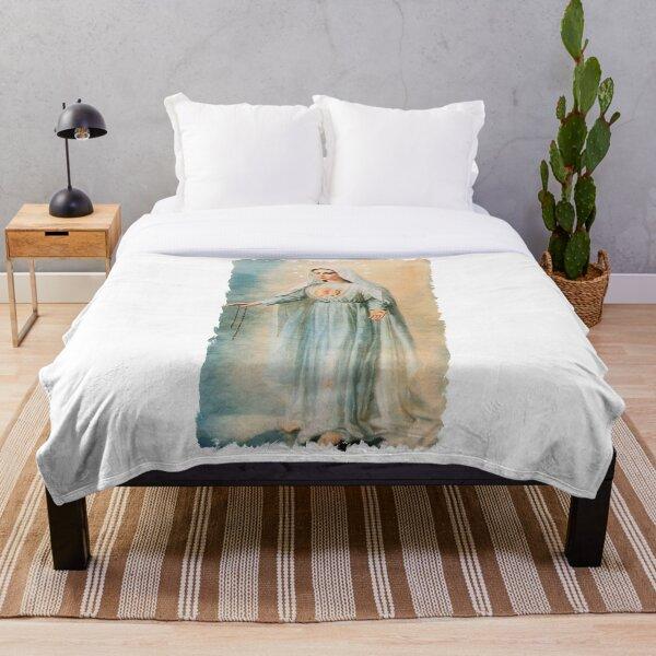 Our Lady Fatima Throw Blanket