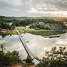 Lake Crossing - Sweden by Wanagi Zable-Andrews