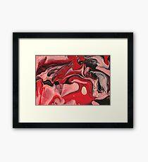Abstract - Paint - Raspberry Nebula Framed Print