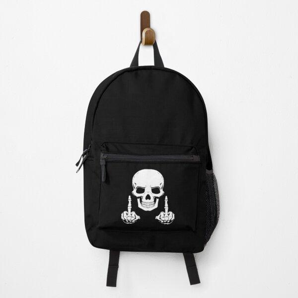 Skull Middle Finger Backpack