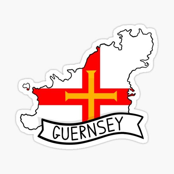 Guernsey Flag Map Sticker Sticker