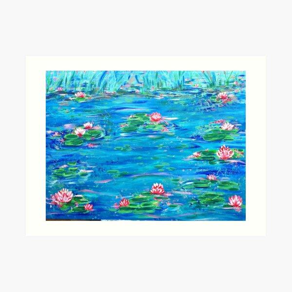 Waterlily lake Art Print