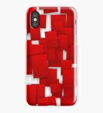 seamless red paper iPhone Case