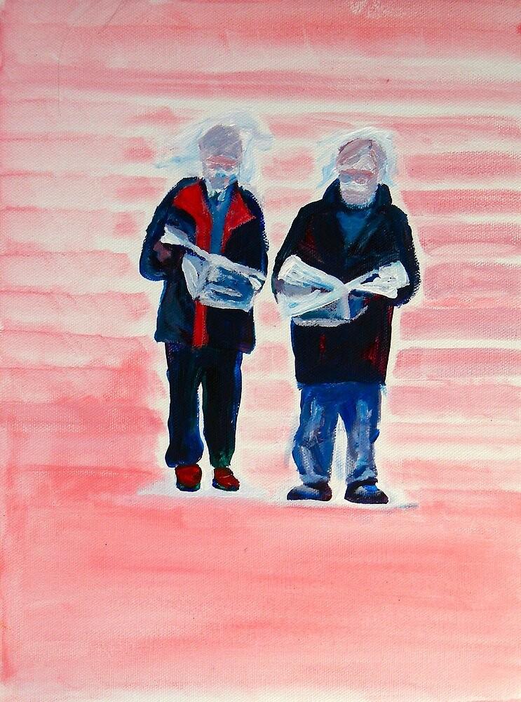 Men Reading by eolai