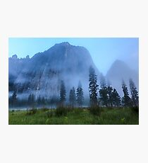 El Capitan in Fog Photographic Print