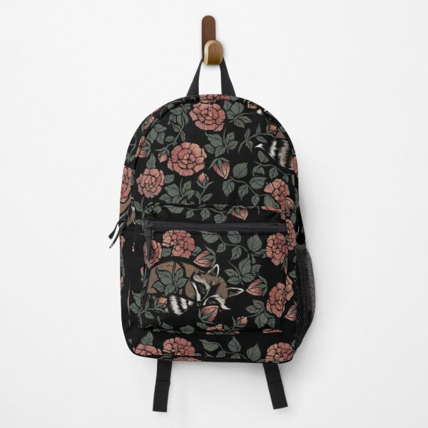 Dusty Rose Raccoons  Backpack