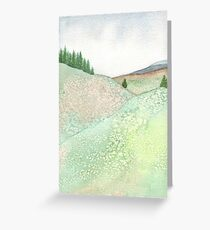 Over the Hills and Far Away Greeting Card