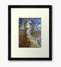 Secret Midnight Garden Framed Print