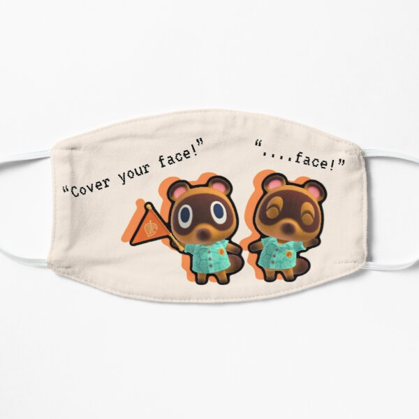 """Timmy and Tommy Nook Say """"COVER YOUR FACE!"""" Mask"""