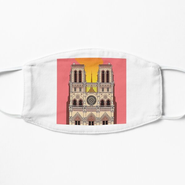 Notre Dame on Fire (Day) Mask