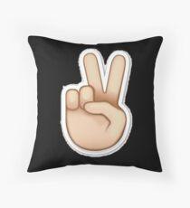 Friedenszeichen emoji Kissen