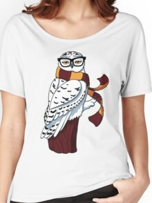 Hipster Owl Women's Relaxed Fit T-Shirt