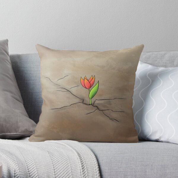 Resilience Flower Throw Pillow