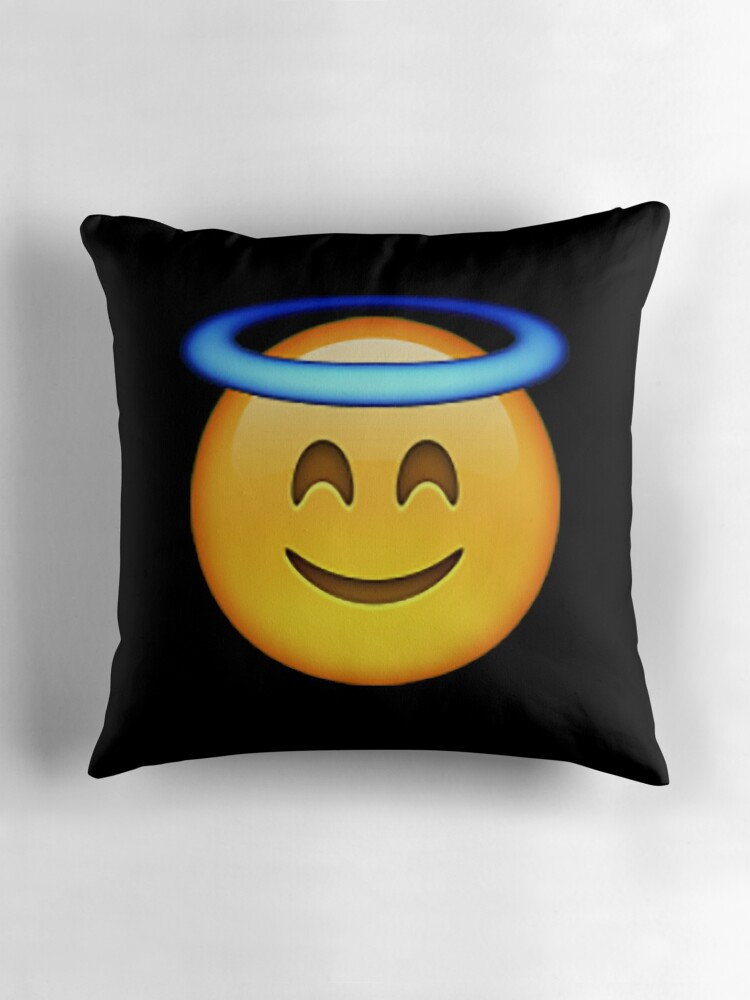 Quot Angel Emoji Quot Throw Pillows By Idkbutpuppies Redbubble
