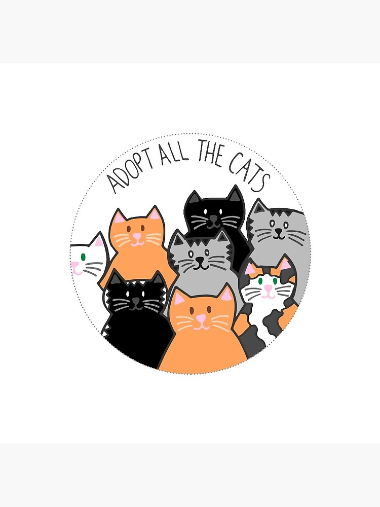 Adopt All the Cats by cwillustration