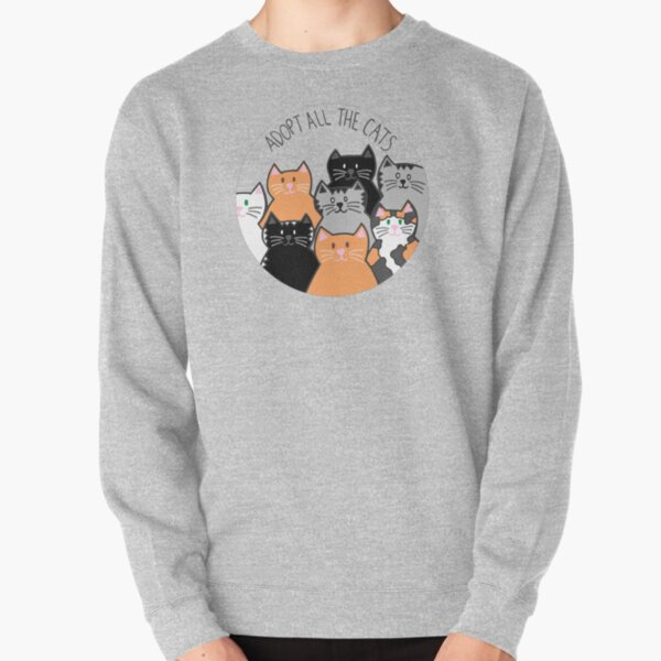 Adopt All the Cats Pullover Sweatshirt