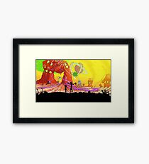 Welcome to the rick and morty world!!! Framed Print